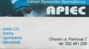 """Zakład Ślusarko-Spawalniczy """"APIEC"""""""